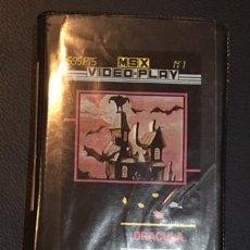 Videojuegos y Consolas: JUEGO PARA ORDENADOR MSX DRACULA P.P.P. EDICIONES. Lote 58762502