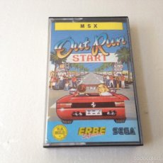 Videojuegos y Consolas: OUT RUN MSX/JUEGO PARA ORDENADOR MSX OUT RUN. Lote 58997690