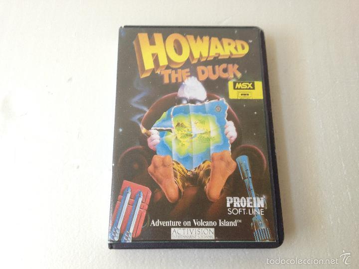 HOWARD EL PATO MSX CON INSTRUCCIONES/JUEGO PARA ORDENADOR HOWARD THE DUCK (Juguetes - Videojuegos y Consolas - Msx)