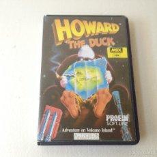 Videojuegos y Consolas: HOWARD EL PATO MSX CON INSTRUCCIONES/JUEGO PARA ORDENADOR HOWARD THE DUCK. Lote 59882511