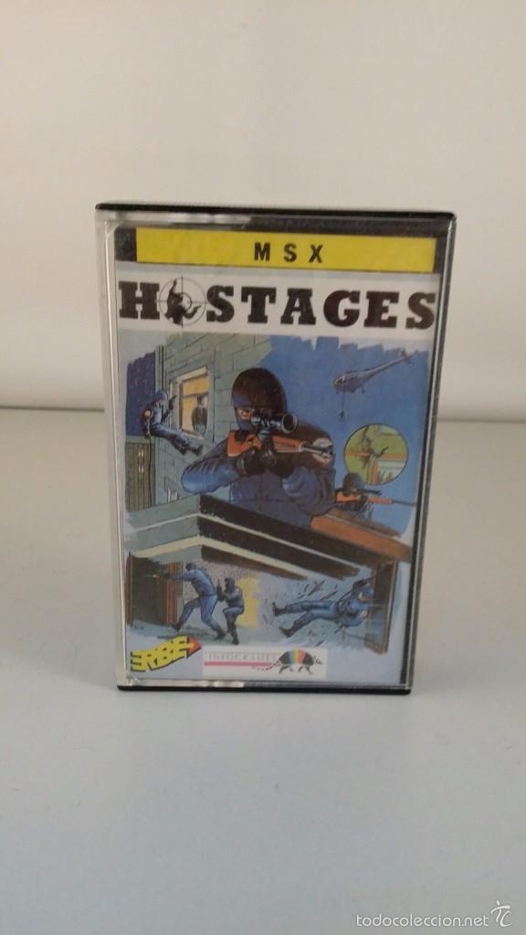 JUEGO MSX CASSETTE - HOSTAGES (Juguetes - Videojuegos y Consolas - Msx)