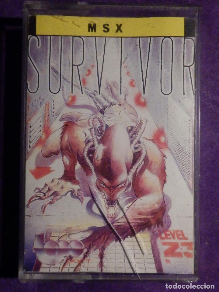 JUEGO MSX Y COMPATIBLES - SURVIVOR - TOPO SOFT - 1987 - (Juguetes - Videojuegos y Consolas - Msx)
