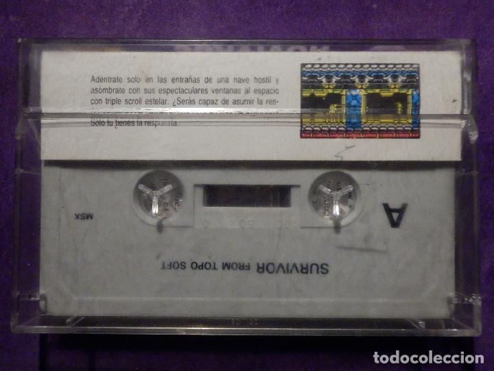 Videojuegos y Consolas: JUEGO MSX Y COMPATIBLES - SURVIVOR - TOPO SOFT - 1987 - - Foto 2 - 64117463