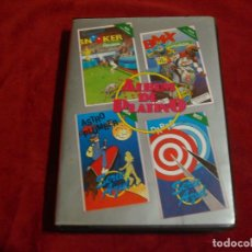 Videojuegos y Consolas: MSX ALBUM DE PLATINO 4 JUEGOS DARTS - BMX SIMULATOR - SNOOKER - ASTRO PLUMBER. Lote 67049326