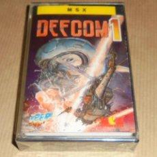 Videojuegos y Consolas: DEFCOM 1 - JUEGO MSX - PRECINTADO. Lote 78174565