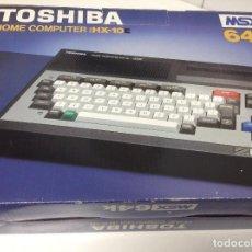 Videojuegos y Consolas: TOSHIBA HOME COMPUTER HX-10 MSX 64K . ORDENADOR DOMESTICO . EDICION ESPAÑOLA. Lote 80783010