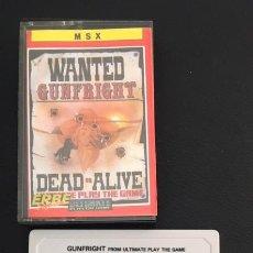 Videojogos e Consolas: JUEGO PARA ORDENADOR MSX GUNFRIGHT. Lote 84578332