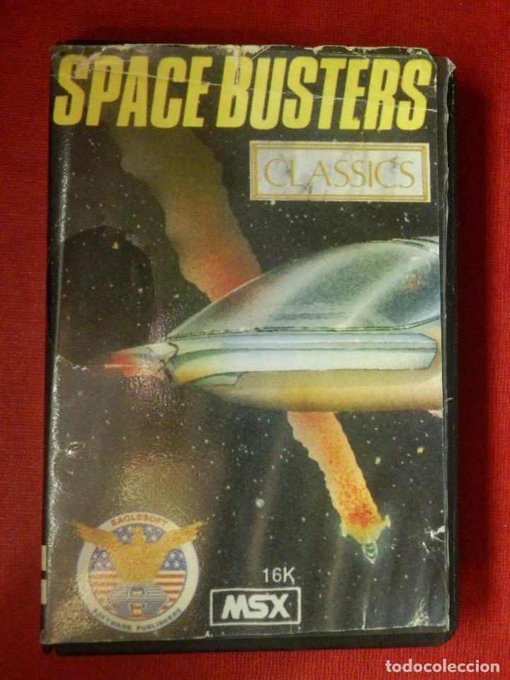 JUEGO PARA MSX Y COMPATIBLES - SPACE BUSTERS - AACKOSOFT - (Juguetes - Videojuegos y Consolas - Msx)