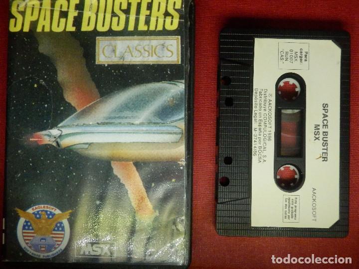 Videojuegos y Consolas: JUEGO PARA MSX Y COMPATIBLES - SPACE BUSTERS - AACKOSOFT - - Foto 2 - 88933516