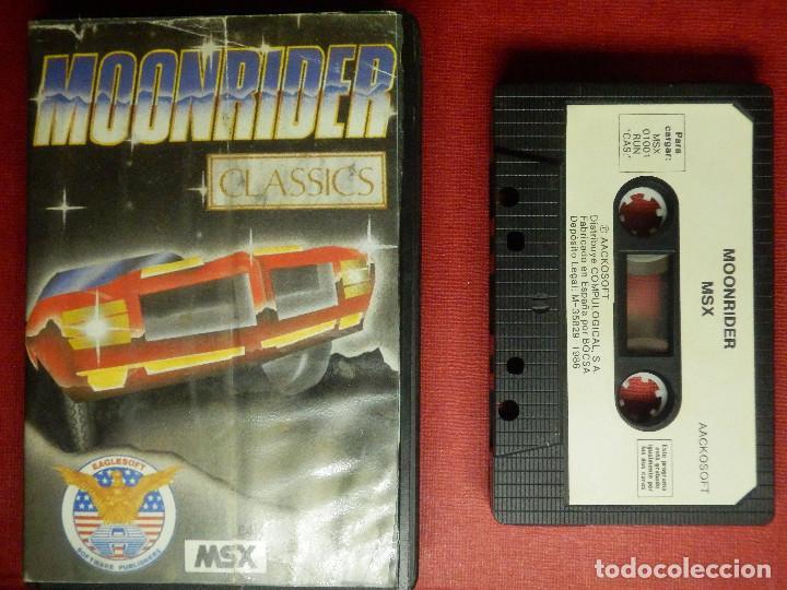 Videojuegos y Consolas: JUEGO PARA MSX Y COMPATIBLES - MOONRIDER - AACKOSOFT - - Foto 2 - 88933976