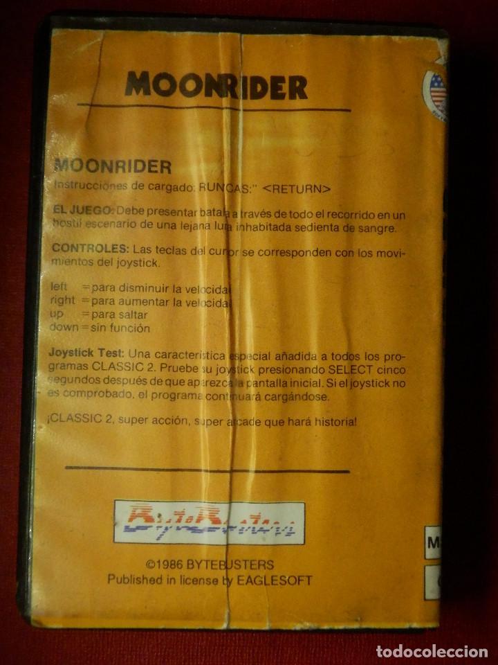 Videojuegos y Consolas: JUEGO PARA MSX Y COMPATIBLES - MOONRIDER - AACKOSOFT - - Foto 3 - 88933976