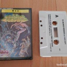 Videojuegos y Consolas: JUEGO MSX CASSETTE EL MUNDO PERDIDO TOPO SOFT 1988 BUEN ESTADO MSX2. Lote 89536792