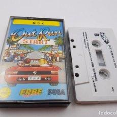 Videojuegos y Consolas: JUEGO CASSETTE OUT RUN OUTRUN SEGA ERBE CINTA 64K MSX ESPAÑA.COMBINO ENVIOS. Lote 90524155