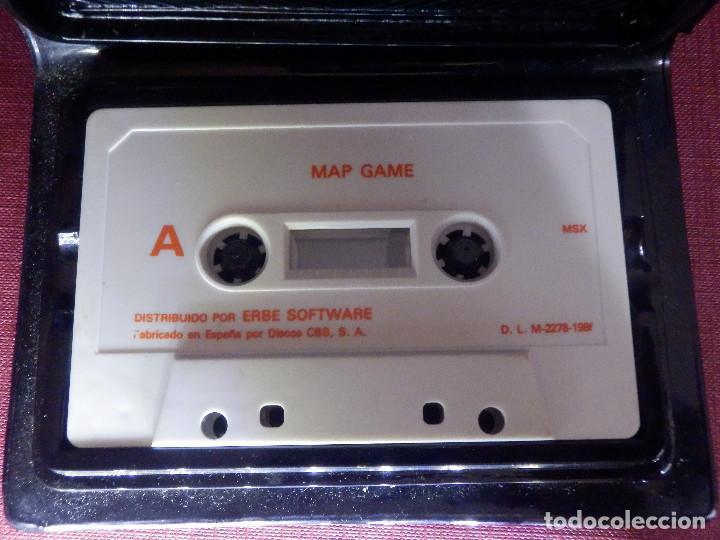 Videojuegos y Consolas: JUEGO MSX y COMPATIBLES - MAP GAME - ERBE - 1986 - Foto 2 - 92165725