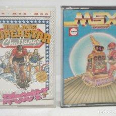 Videojuegos y Consolas: 2X VIDEO JUEGO MSX- SUPERSTAR CHALLENGE RICOOHET -FRUIT MACHINE - CASETTE VIDEOJUEGO CASETE CASET. Lote 97189751