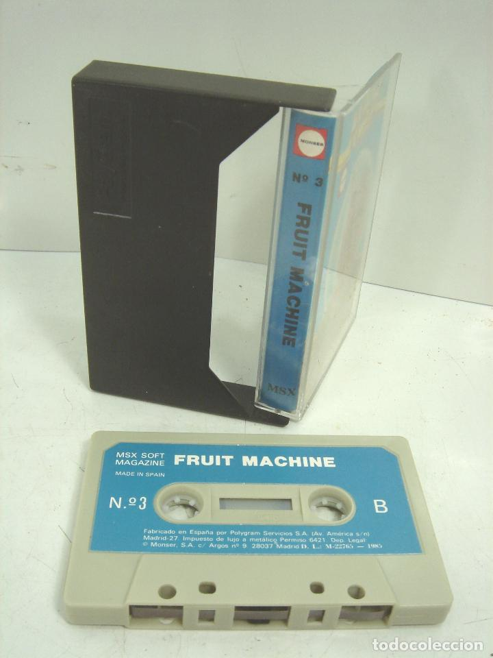 Videojuegos y Consolas: 2X VIDEO JUEGO MSX- SUPERSTAR CHALLENGE RICOOHET -FRUIT MACHINE - CASETTE VIDEOJUEGO CASETE CASET - Foto 2 - 97189751