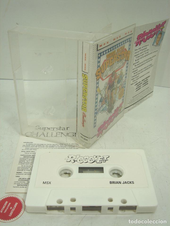 Videojuegos y Consolas: 2X VIDEO JUEGO MSX- SUPERSTAR CHALLENGE RICOOHET -FRUIT MACHINE - CASETTE VIDEOJUEGO CASETE CASET - Foto 3 - 97189751