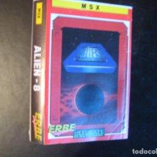 Videojuegos y Consolas: ALIEN-8 CARÁTULA VIDEOJUEGO MSX. IMPECABLE MINT COVER. Lote 97501319