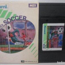 Videojuegos y Consolas: JUEGO CARTUCHO MSX, KONAMI'S SOCCER, KONAMI 1985. Lote 98510364