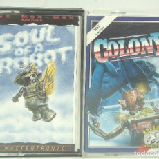 Videojuegos y Consolas: 2X VIDEO JUEGO- MSX -COLONY-SOUL OF A ROBOT-64K-MASTERTRONIC VIDEOJUEGO CASETE CINTA. Lote 99132663