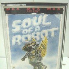 Videojuegos y Consolas: VIDEO JUEGO- MSX - SOUL OF A ROBOT-64K-MASTERTRONIC VIDEOJUEGO CASETE CINTA VIDEOJUEGO. Lote 99148071