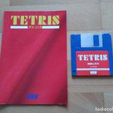 Videojuegos y Consolas: JUEGO MSX2 TETRIS BPS 1988 DISKETTE + MANUAL BUEN ESTADO MSX. Lote 100120271