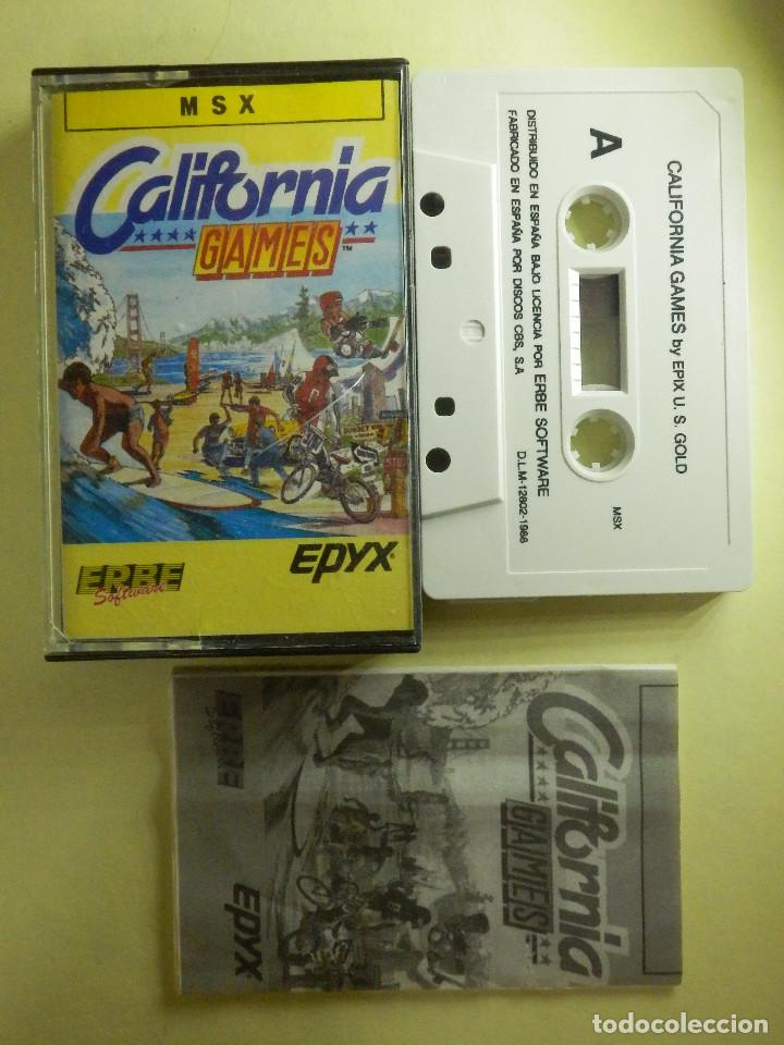 JUEGO PARA MSX Y COMPATIBLES - CALIFORNIA GAMES - ERBE - 1988 (Juguetes - Videojuegos y Consolas - Msx)