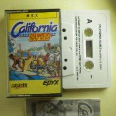 Videojuegos y Consolas: JUEGO PARA MSX Y COMPATIBLES - CALIFORNIA GAMES - ERBE - 1988. Lote 100205995