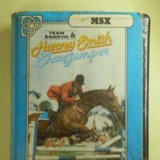 Videojuegos y Consolas: JUEGO PARA MSX Y COMPATIBLES - HARVEY SMITH - SHOWJUMPER - SOFTWARE PROJETS - TEAM SANYO - 1985. Lote 100211107