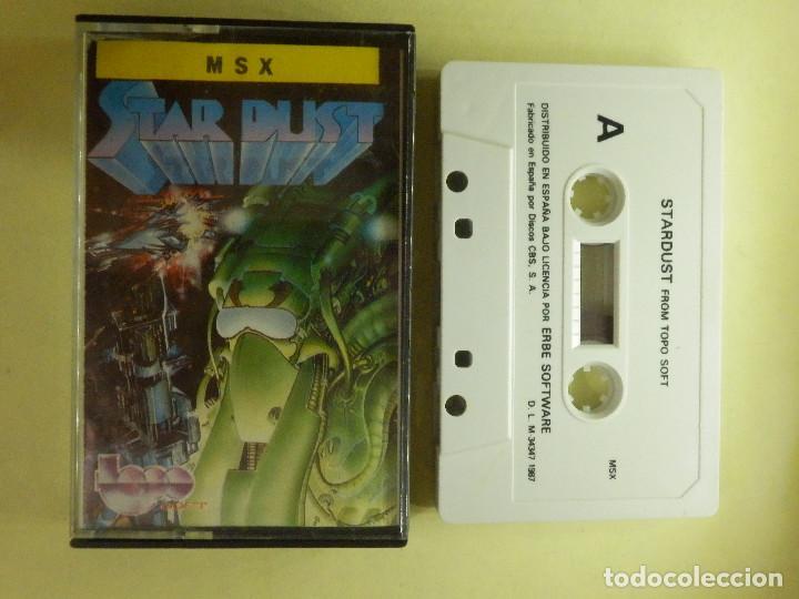 JUEGO PARA MSX Y COMPATIBLES - STAR DUST - FROM TOPO SOFT - 1987 (Juguetes - Videojuegos y Consolas - Msx)
