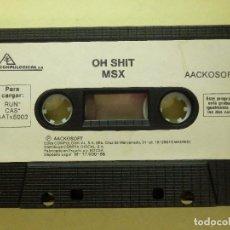 Videojuegos y Consolas: JUEGO PARA MSX Y COMPATIBLES - OH SHIT - AACKOSOFT - COMPULOGICAL - 1986. Lote 100225155