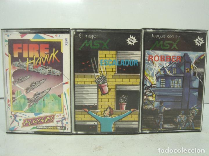 3X VIDEO JUEGO-MSX FIRE HAWK ROBBER ESCALADOR - SOLO CARATULAS - CASETE CASETTE (Juguetes - Videojuegos y Consolas - Msx)