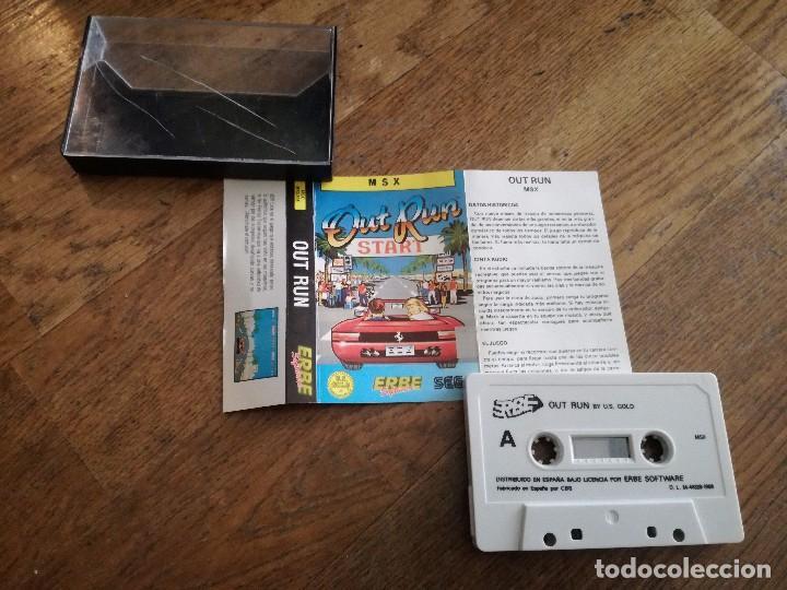 JUEGO CASETE MSX SEGA OUT RUN START 1988. (Juguetes - Videojuegos y Consolas - Msx)