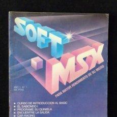 Videojuegos y Consolas: REVISTA Nº 1 SOFT.MSX PARA MAYOR RENDIMIENTO DE SU MICRO. 1986. Lote 105258991