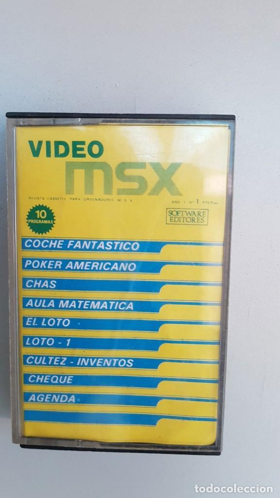 CASSETTE VIDEO MSX, 10 PROGRAMAS. (Juguetes - Videojuegos y Consolas - Msx)