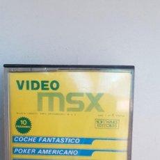Videojuegos y Consolas: CASSETTE VIDEO MSX, 10 PROGRAMAS.. Lote 108026451