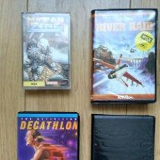 Videojuegos y Consolas: 4 JUEGOS MSX DECATHLON RIVER RAID ACE OF ACES MUTAN ZONE. Lote 113473431