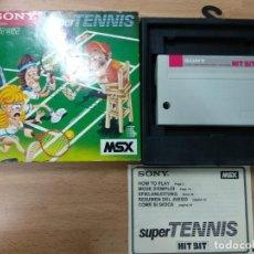 Videojuegos y Consolas: SUPER TENNIS - VERSION EUROPEA - COMPLETO - MSX SONY. Lote 116515735