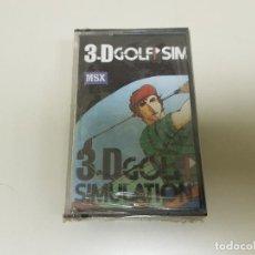 Videojuegos y Consolas: 918- JUEGO MSX 3D GOLF SIMULATION ( NUEVO / PRECINTADO) Nº 2. Lote 117748115