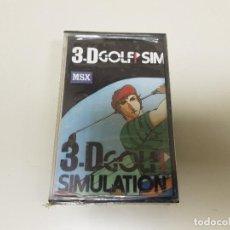 Videojuegos y Consolas: 918- JUEGO MSX 3D GOLF SIMULATION ( NUEVO / PRECINTADO) Nº 3. Lote 117748239