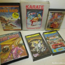 Videojuegos y Consolas: MSX,6 JUEGOS,THE WALL,RIVER RAID,INTERNATIONAL KARATE,GOODY,DESPERADO,OUT RUN,CASETES. Lote 245466235