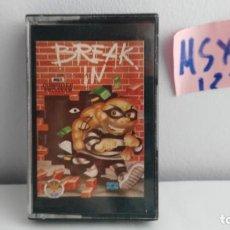 Videojuegos y Consolas: JUEGO PARA ORDENADOR MSX BREAK IN . Lote 121861407