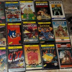 Videojuegos y Consolas: LOTE JUEGOS ORDENADOR MSX ROCKY RAMBO CHASE H.Q AVENGER LIVINGSTONE SUPONGO OUT RUN TEMPTATIONS. Lote 122222339