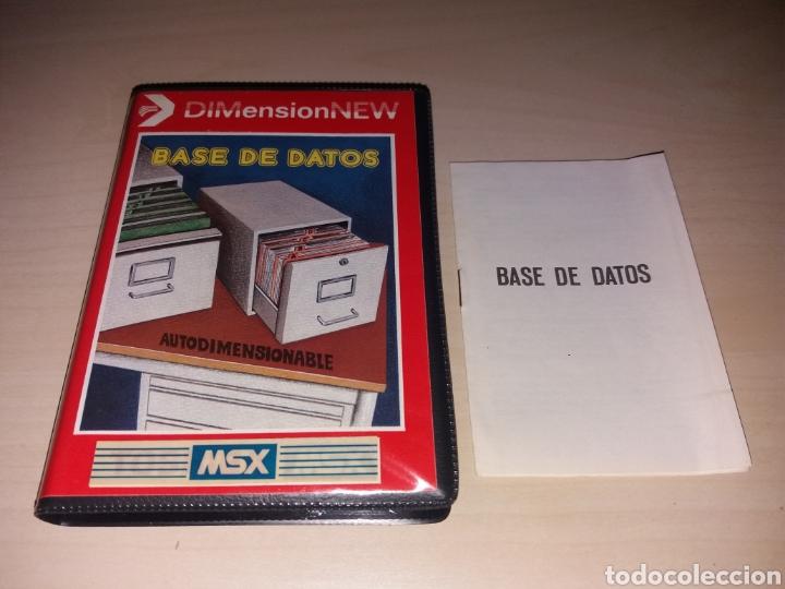 MSX - BASE DE DATOS (Juguetes - Videojuegos y Consolas - Msx)