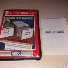 Videojuegos y Consolas: MSX - BASE DE DATOS. Lote 122723572