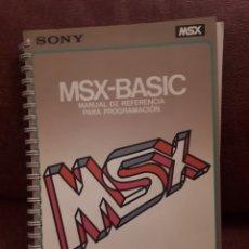 Videojuegos y Consolas: MANUAL DE REFERENCIA PARA PROGRAMACION MSX - BASIC HIT BIT 1984. Lote 122767055