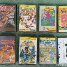 Videojuegos y Consolas: LOTE DE JUEGOS MSX. Lote 128245351