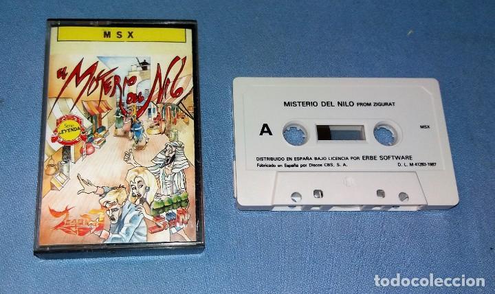 Videojuegos y Consolas: JUEGO EL MISTERIO DEL NILO DE MSX ORIGINAL MUY BUEN ESTADO DE CONSERVACION VER FOTOS Y DESCRIPCION - Foto 2 - 135818622