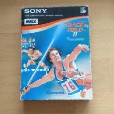 Videojuegos y Consolas: CAJA Y BLISTER INTERIOR PARA JUEGO TRACK AND FIELD 2 KONAMI 1984 VERSION SONY HYPER OLYMPIC. Lote 136346270