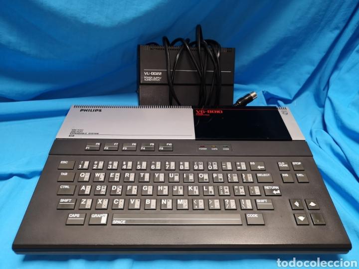 Videojuegos y Consolas: Philips vg - 8010 home computer MSX ordenador teclado + cargador - Foto 2 - 141739569